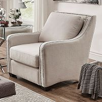 HomeVance Carriage Hill Nail Head Accent Arm Chair