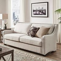 HomeVance Carriage Hill Nail Head Accent Sofa