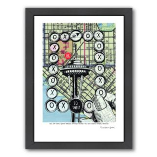 Americanflat Space Needle Seattle Framed Wall Art