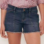 Women's LC Lauren Conrad Fringe Jean Shorts