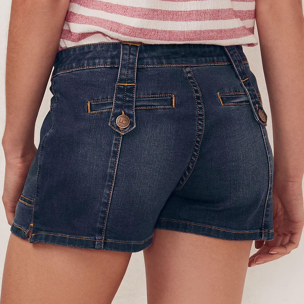 Women's LC Lauren Conrad Faded Jean Shorts