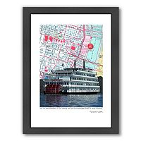 Americanflat St. Louis River Boat Framed Wall Art