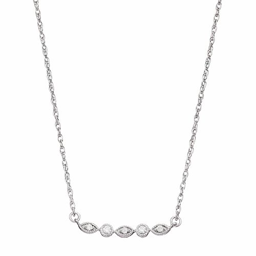 LC Lauren Conrad 10k White Gold Diamond Accent Necklace