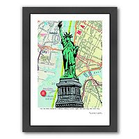 Americanflat Statue Of Liberty NYC Framed Wall Art