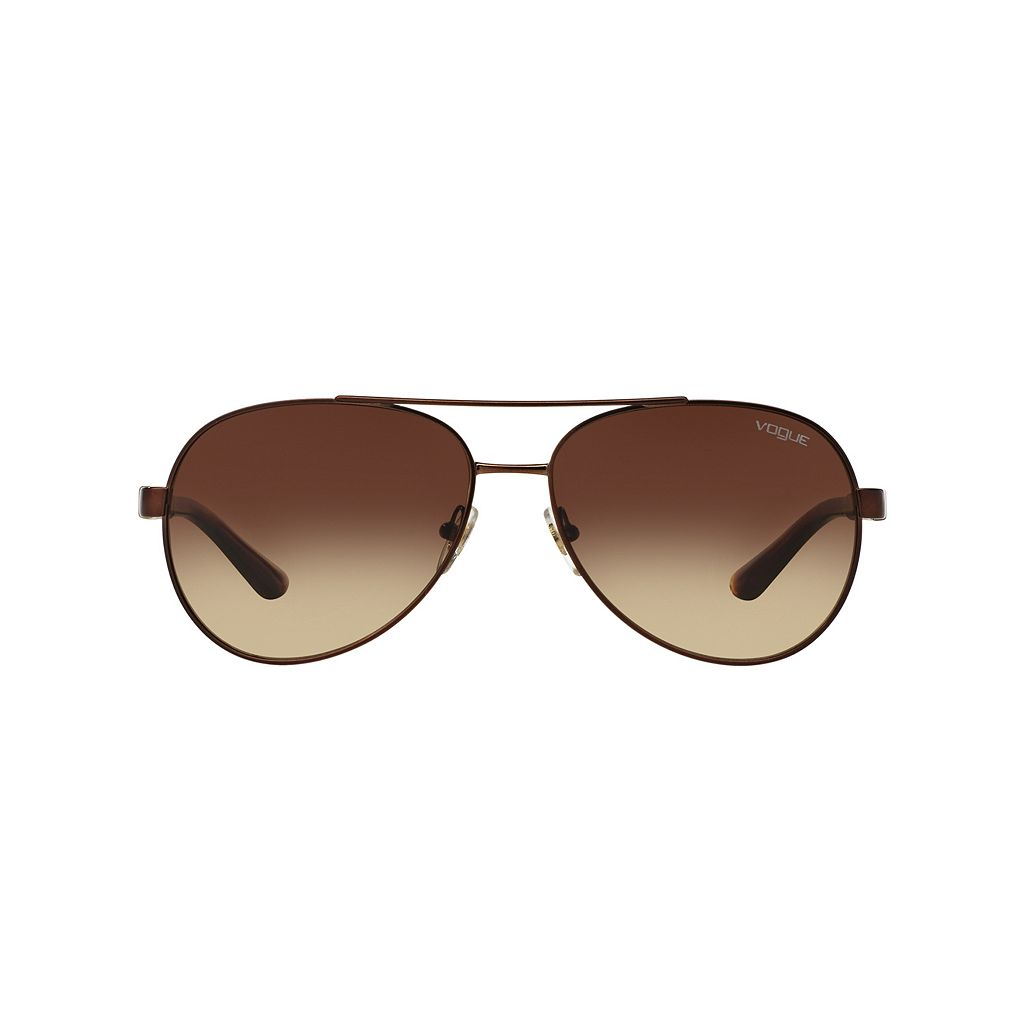 Vogue Casual Chic VO3997S 58mm Aviator Gradient Sunglasses