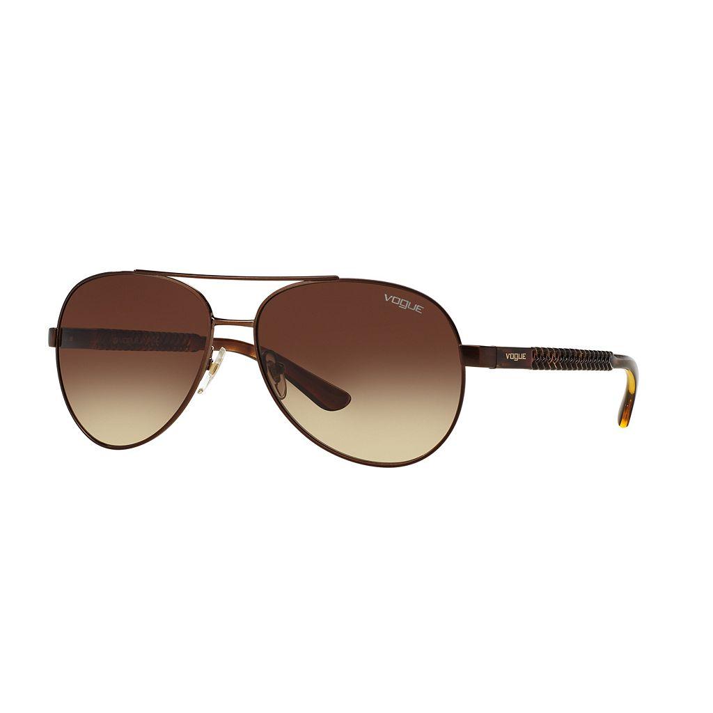 Vogue Casual Chic VO3997S 58mm Aviator Gradient Sunglasses