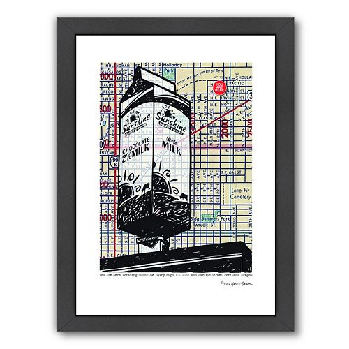 "Americanflat ""Sunshine Milk"" Portland Framed Wall Art"