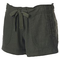 Juniors' Unionbay Candace Linen-Blend Shorts