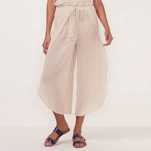 98d54512acfd Women s LC Lauren Conrad Beach Shop Envelope-Hem Capri Pants