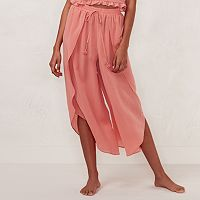 Women's LC Lauren Conrad Beach Shop Envelope-Hem Capri Pants