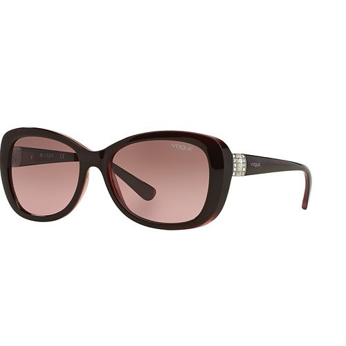 Vogue Timeless VO2943S 55mm Butterfly Gradient Sunglasses with Swarovski Elements
