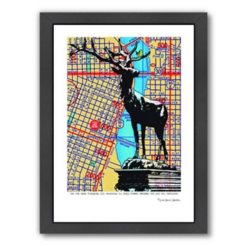 Americanflat Thompson Elk Foundation Portland Framed Wall Art