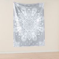 Simple By Design Gray Medallion Wall Tapestry