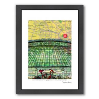 """Americanflat """"Tokyo Dome"""" Map Framed Wall Art"""