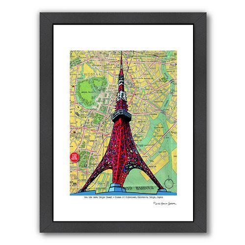 Americanflat Tokyo Tower Framed Wall Art
