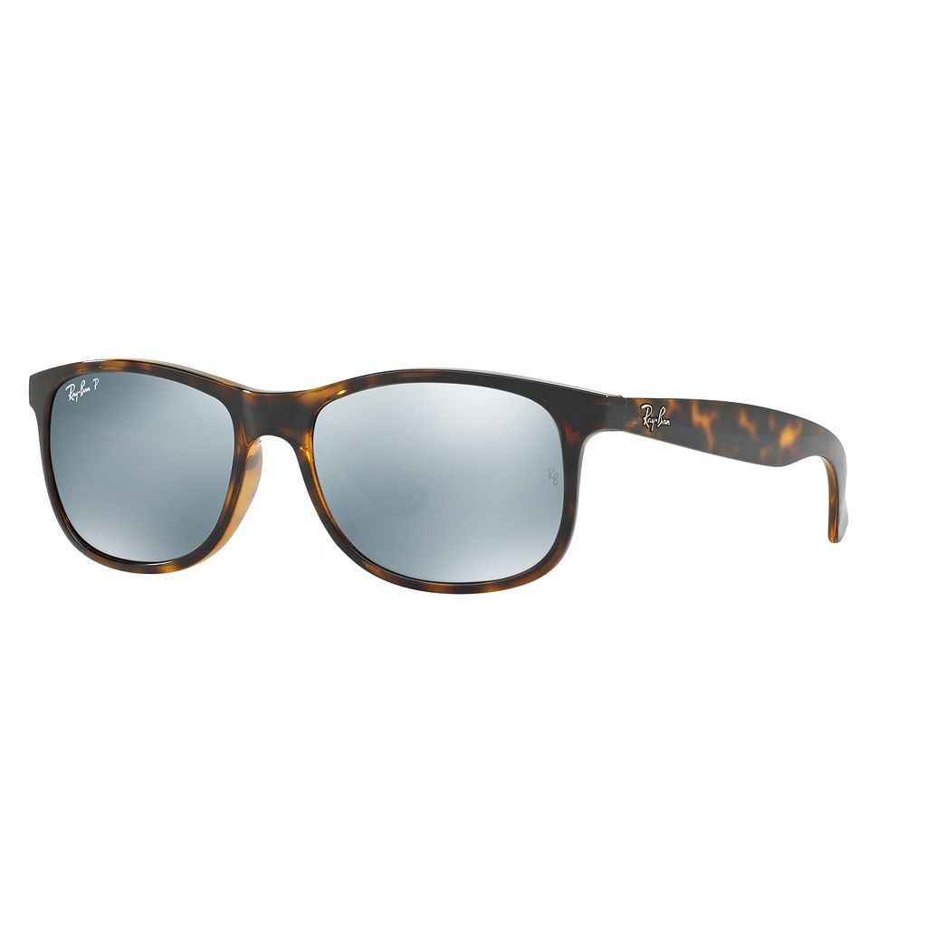 Ray-Ban Andy RB4202 55mm Rectangle Mirror Polarized Sunglasses