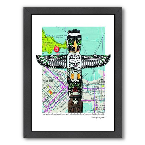 Americanflat Totem Vancouver Framed Wall Art