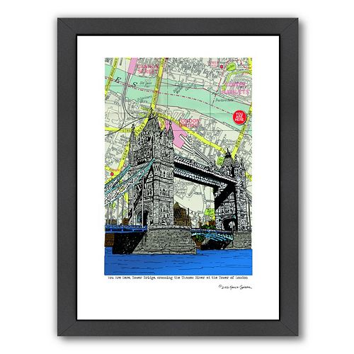 Americanflat Tower Bridge London Framed Wall Art