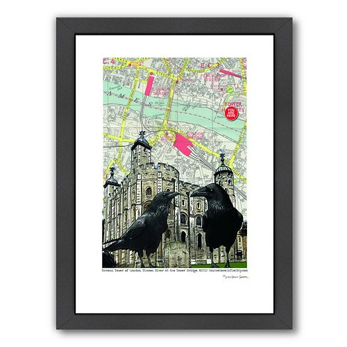 Americanflat Tower Of London Framed Wall Art
