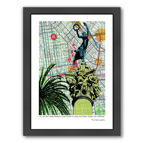 Americanflat Union Square Dewey Monument Framed Wall Art