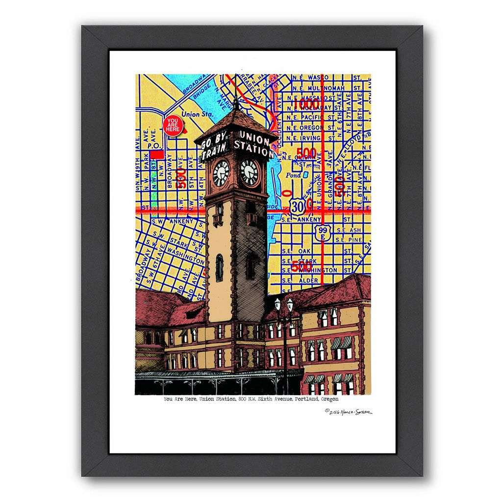 Americanflat Union Station Portland Framed Wall Art