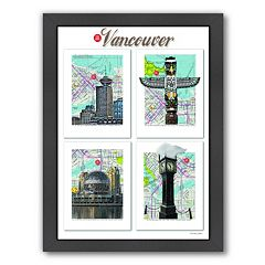 Americanflat 'Vancouver' British Columbia Framed Wall Art