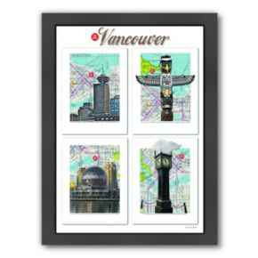 "Americanflat ""Vancouver"" British Columbia Framed Wall Art"
