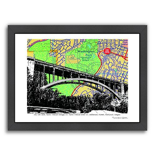 Americanflat Vista Avenue Bridge Portland Framed Wall Art