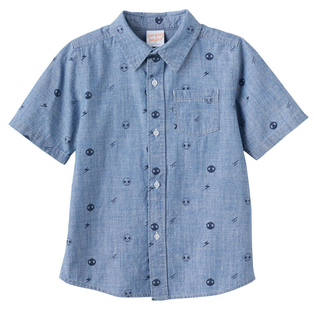 Boys 4-10 Jumping Beans® Chambray Button-Down Shirt
