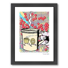 Americanflat 'You Are Here' Coffee Portland Framed Wall Art