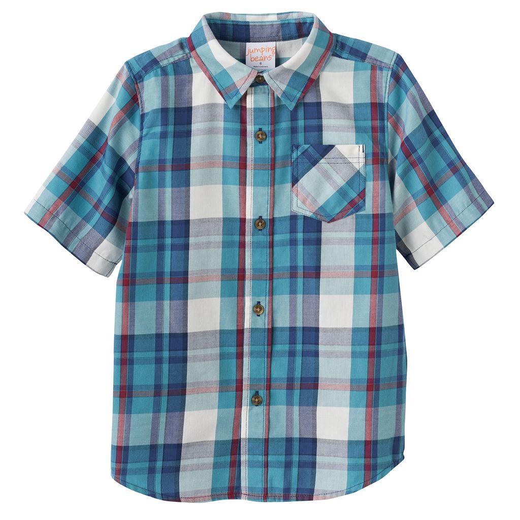 Boys 4-10 Jumping Beans® Plaid Button-Down Shirt