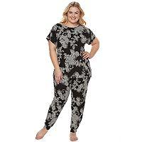 Plus Size Apt. 9® Pajamas: Love Story Tunic Top & Jogger Pants PJ Set