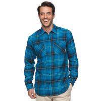 Men's Columbia Hardy Ridge Classic-Fit Plaid Button-Down Shirt