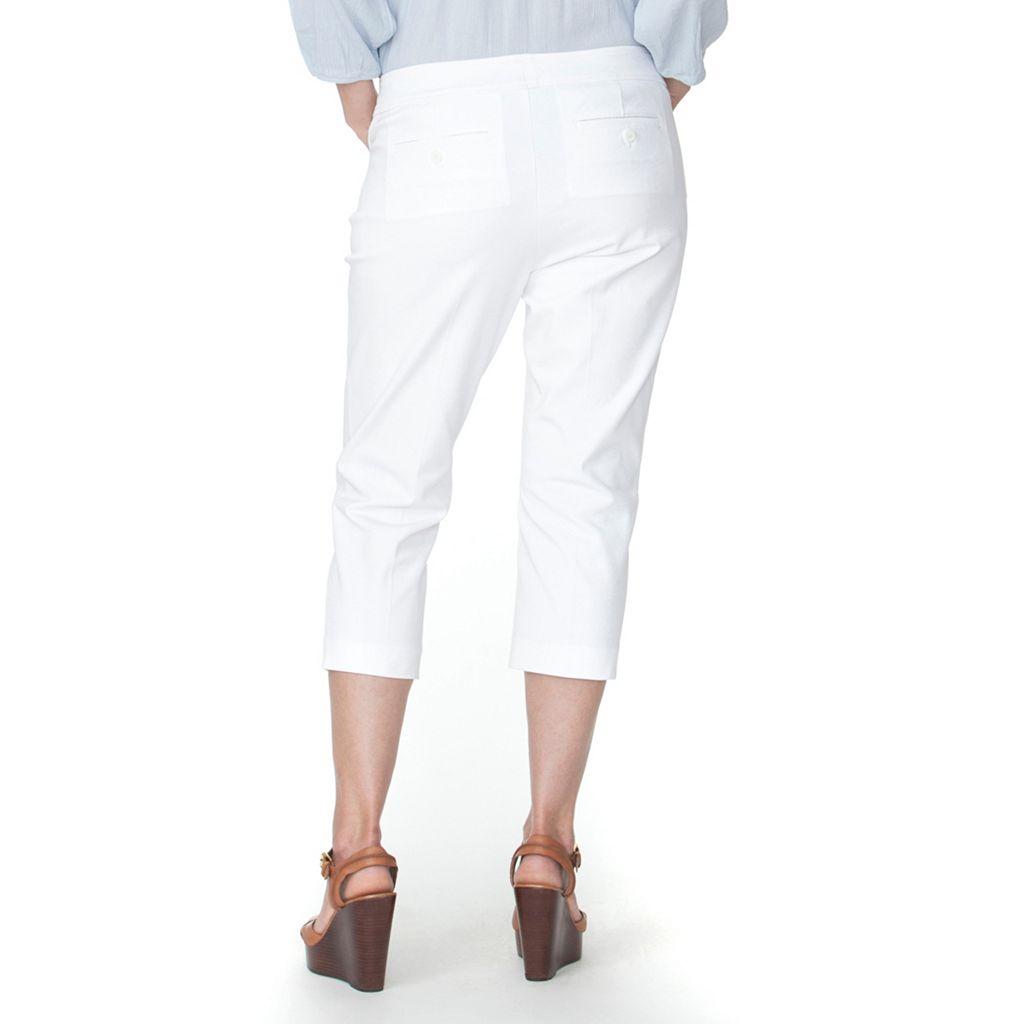 Plus Size Chaps Twill Straight-Leg Capris