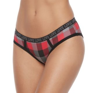 """Juniors' SO® """"Love"""" Graphic Waist Hipster Panty"""
