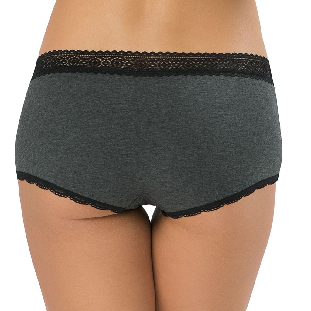Juniors' SO® Lace Trim Boxy Boyshort Panty