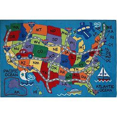 Fun Rugs Fun Time Travel Fun Map Rug - 2'7'' x 3'11''