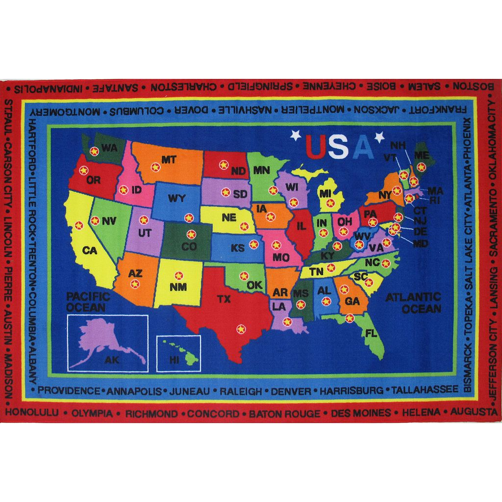 Fun Rugs Fun Time State Capitals Rug - 2'7'' x 3'11''