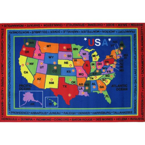 Fun Rugs Fun Time State Capitals Rug - 2
