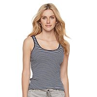 Women's SONOMA Goods for Life™ Ribbed Scoopneck Tank