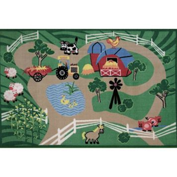 Fun Rugs Fun Time Farm Roads Rug - 3'3'' x 4'10''