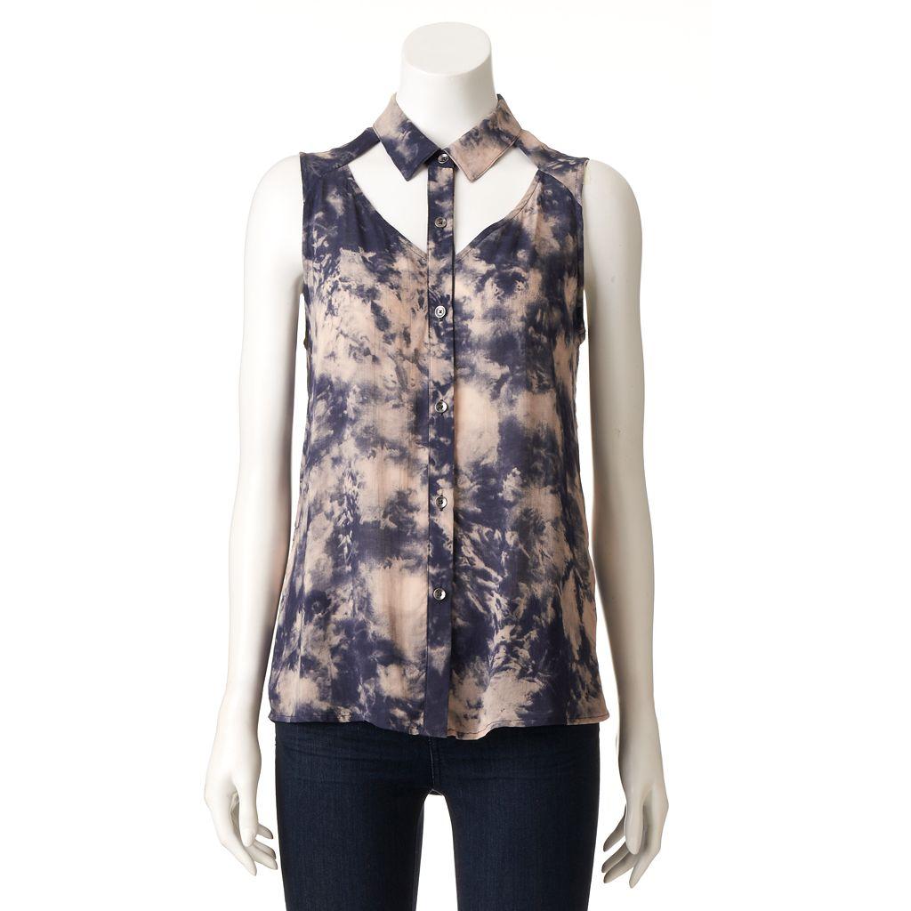 Women's Rock & Republic® Cutout Tie-Dye Shirt
