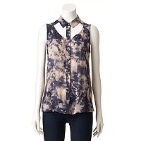 Women's Rock & Republic® Cutout Tie-Dye Shirt