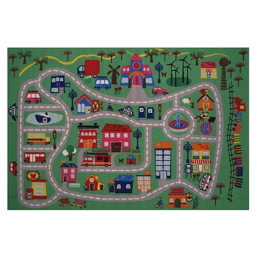 Fun Rugs Fun Time City Rug - 3'3'' x 4'10''