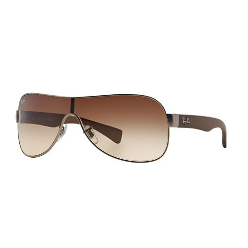 Ray-Ban Youngster RB3471 32mm Wrap Gradient Sunglasses