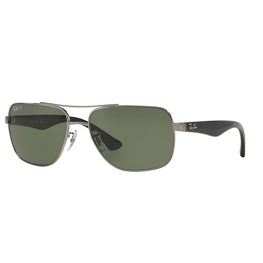 Ray-Ban Highstreet RB3483 60mm Square Polarized Sunglasses