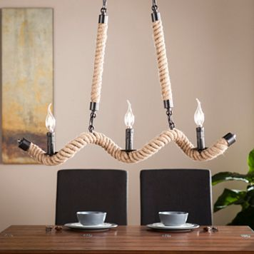 Camber Twisted Rope Chandelier