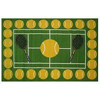 Fun Rugs Fun Time Tennis Time Rug - 3'3'' x 4'10''