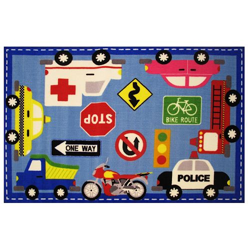 Fun Rugs Fun Time Downtown Traffic Rug - 3'3'' x 4'10''
