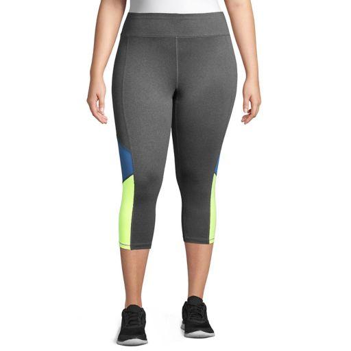 Plus Size Just My Size Colorblock Capri Leggings
